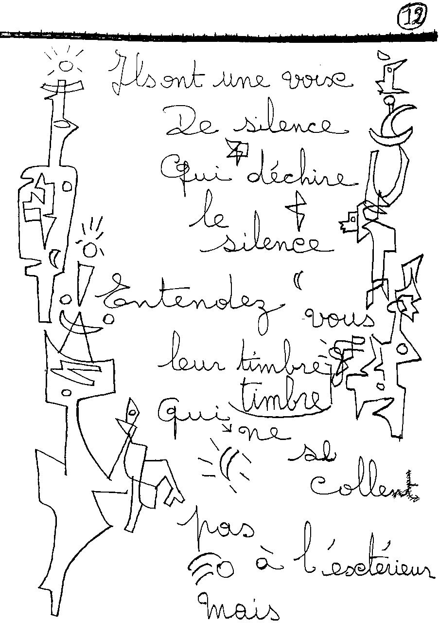 manuscrit du poème 2417