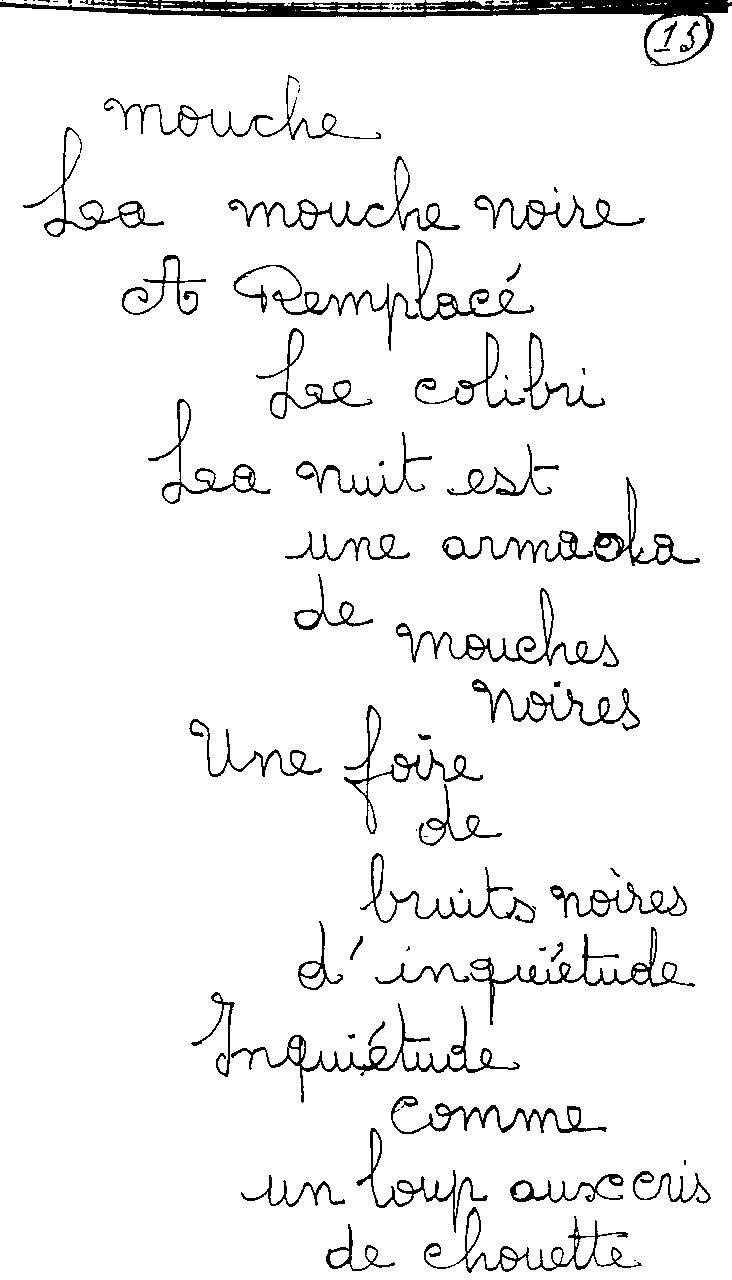 manuscrit du poème 2420