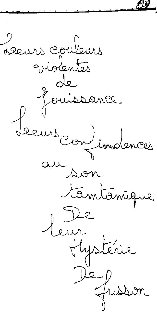 manuscrit du poème 2422