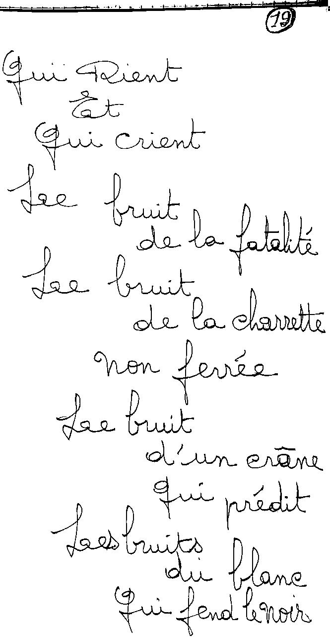 manuscrit du poème 2424