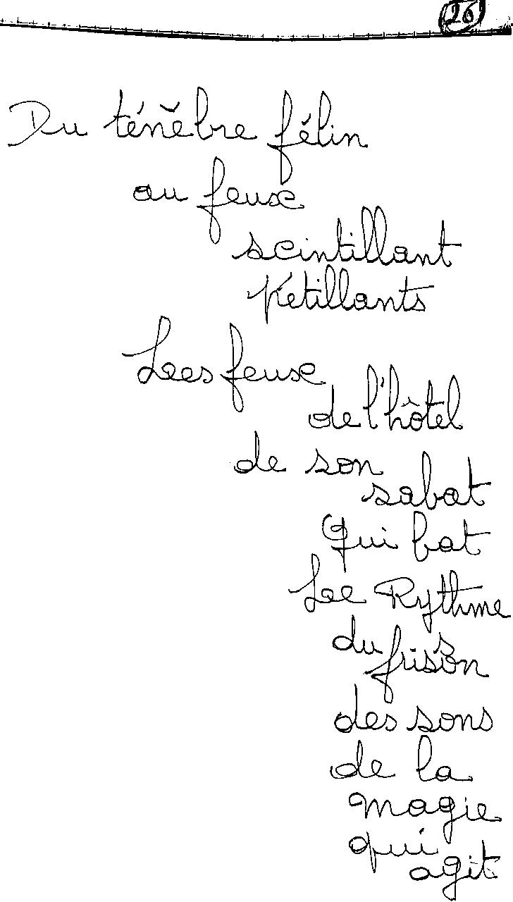manuscrit du poème 2431