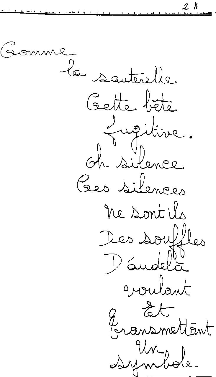 manuscrit du poème 2433