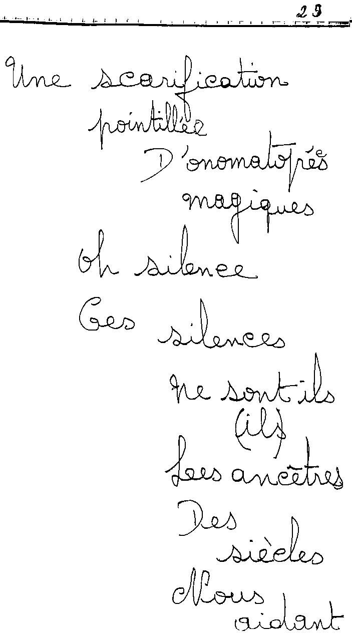 manuscrit du poème 2434