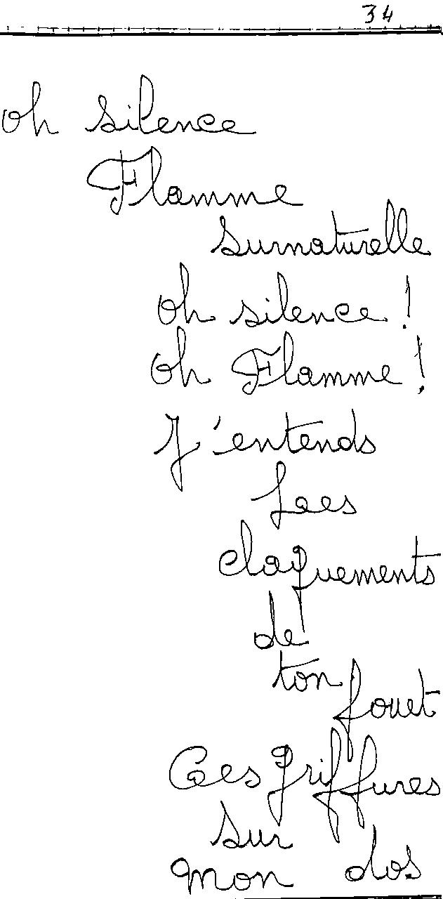 manuscrit du poème 2439