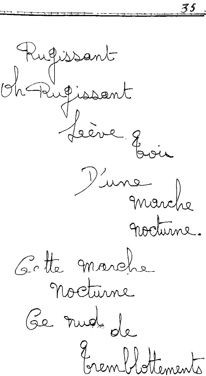 manuscrit du poème 2440