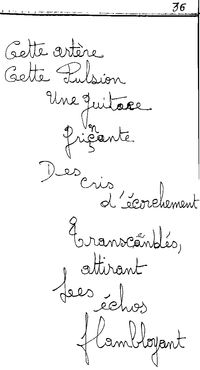 manuscrit du poème 2441