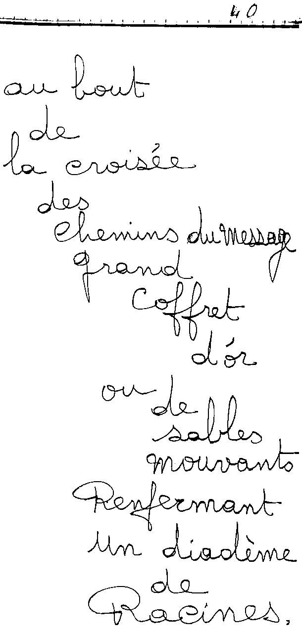 manuscrit du poème 2445