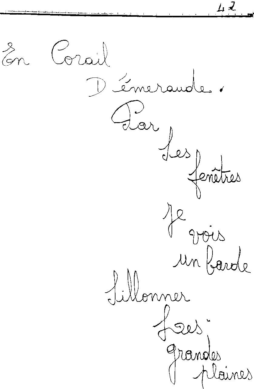 manuscrit du poème 2447