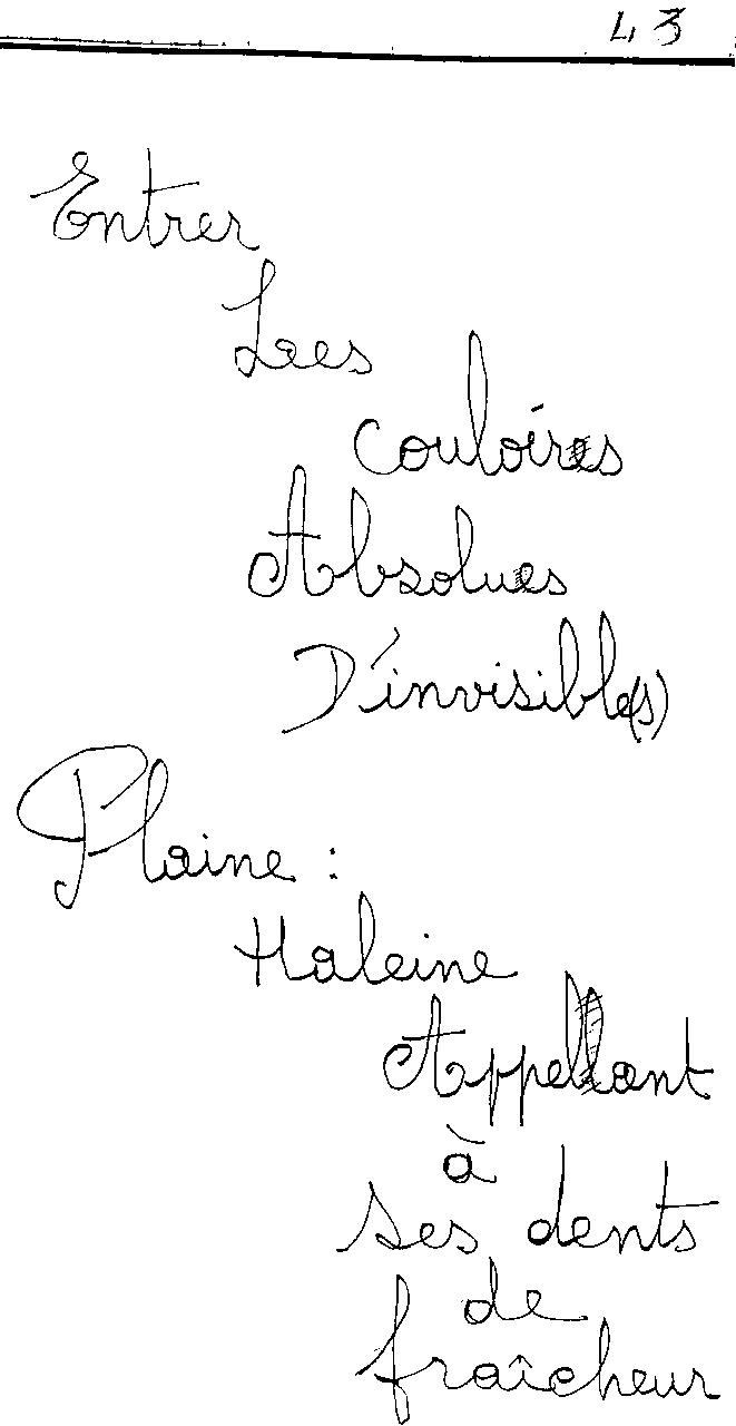 manuscrit du poème 2448