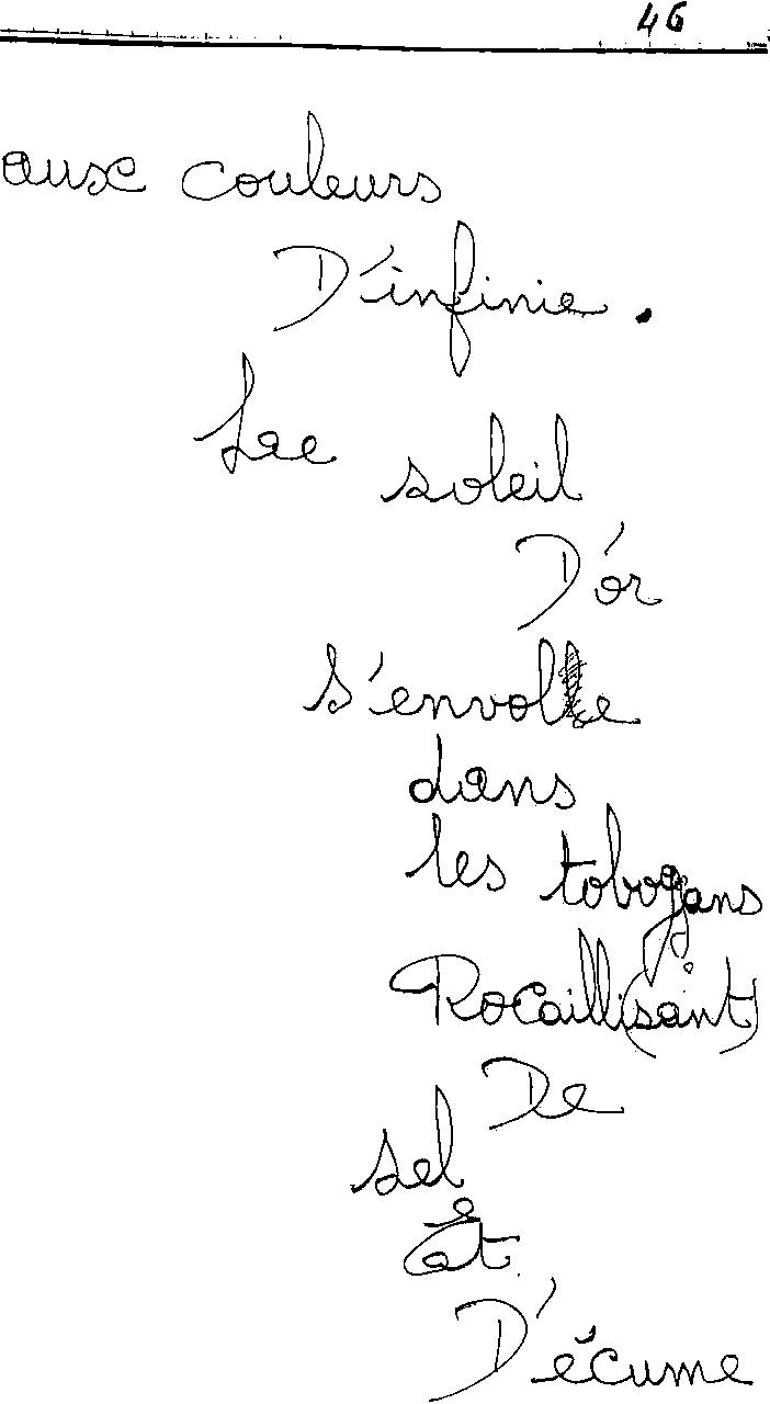 manuscrit du poème 2451
