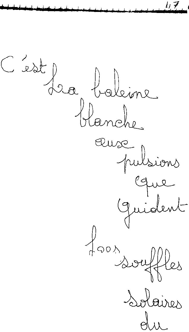 manuscrit du poème 2452