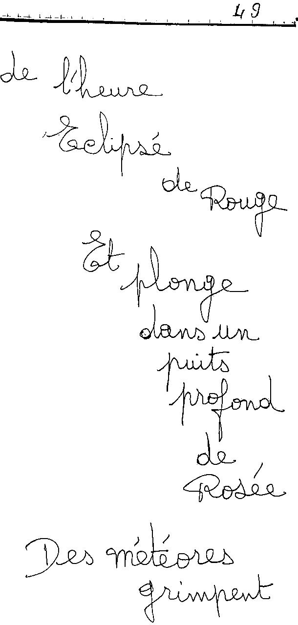 manuscrit du poème 2454