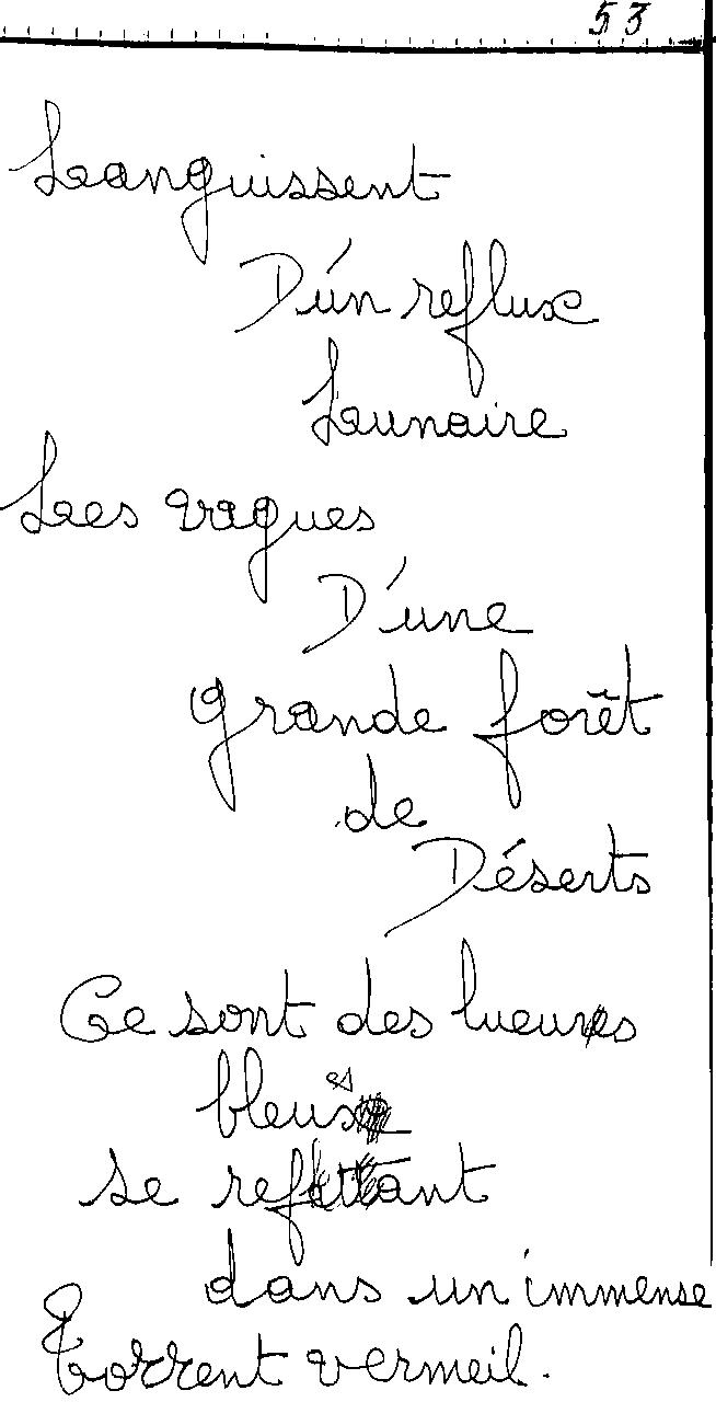manuscrit du poème 2458