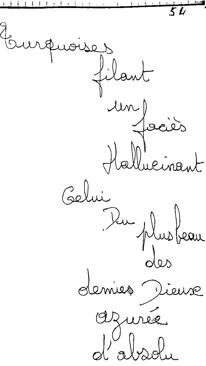 manuscrit du poème 2459