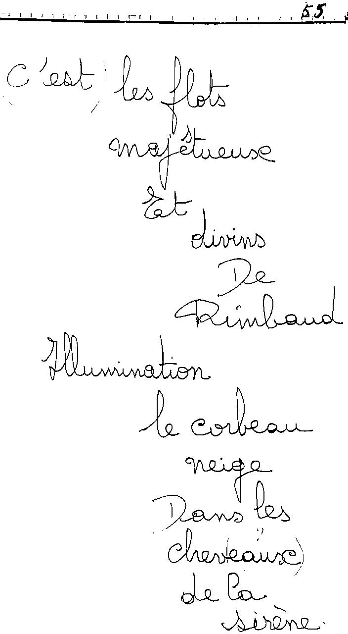 manuscrit du poème 2460