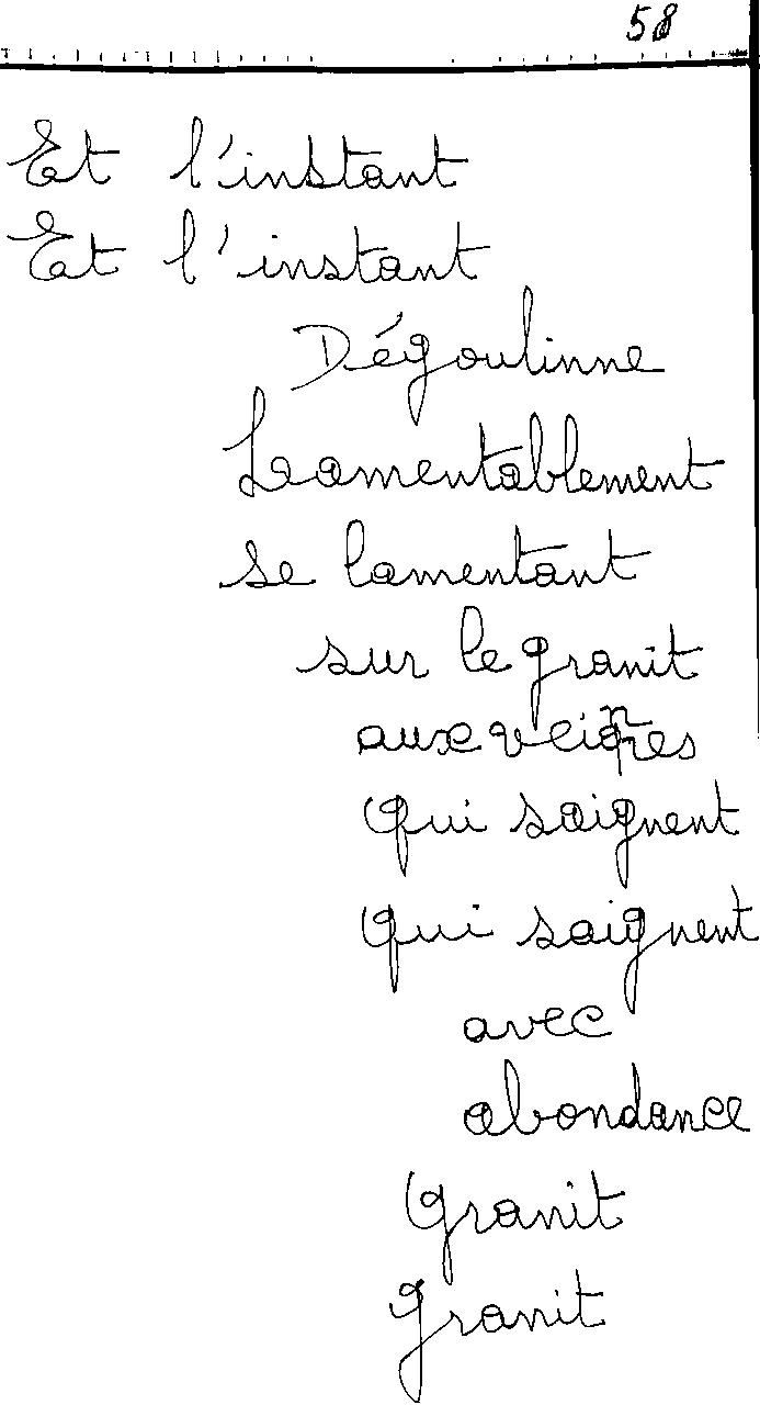 manuscrit du poème 2463
