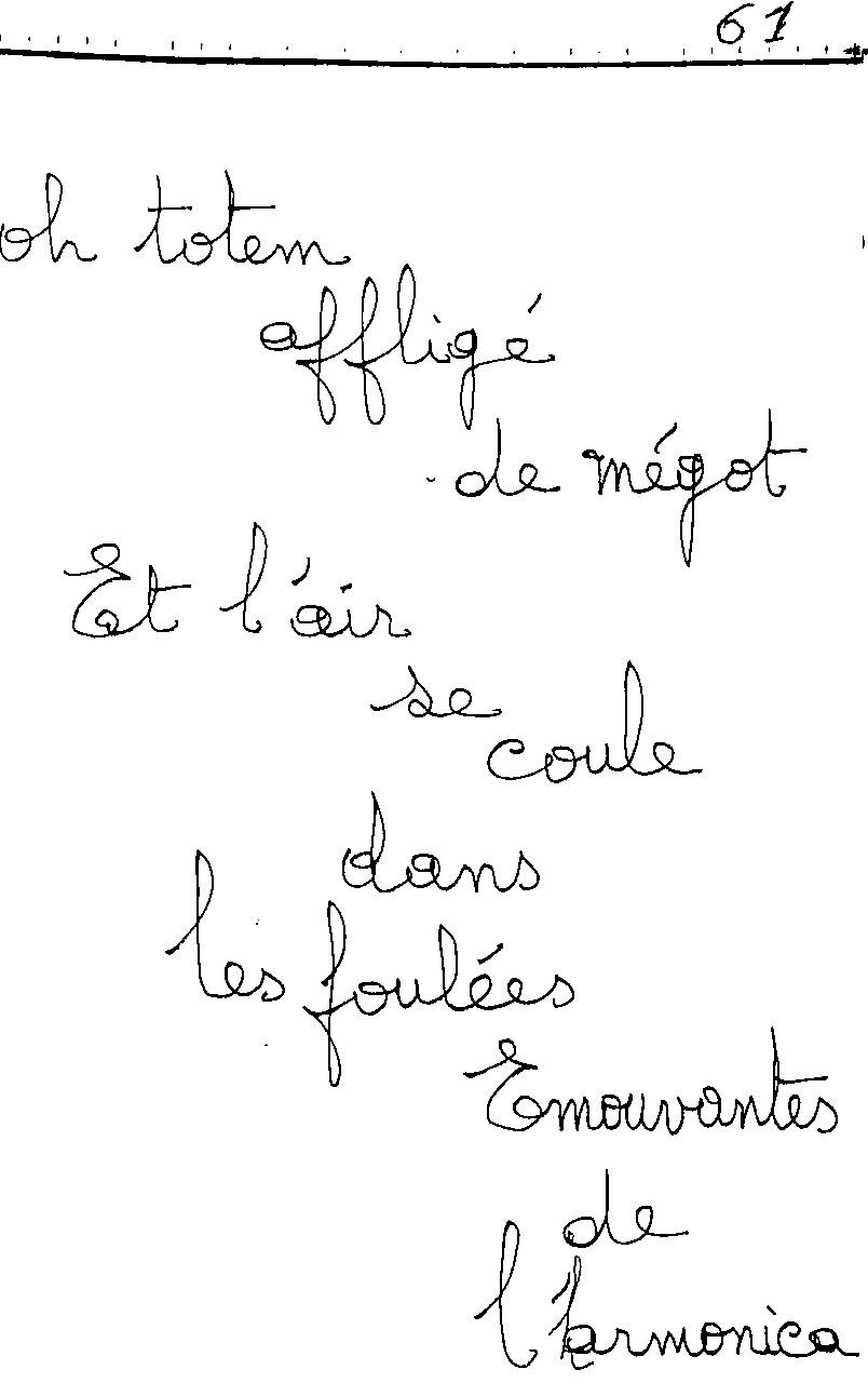 manuscrit du poème 2466