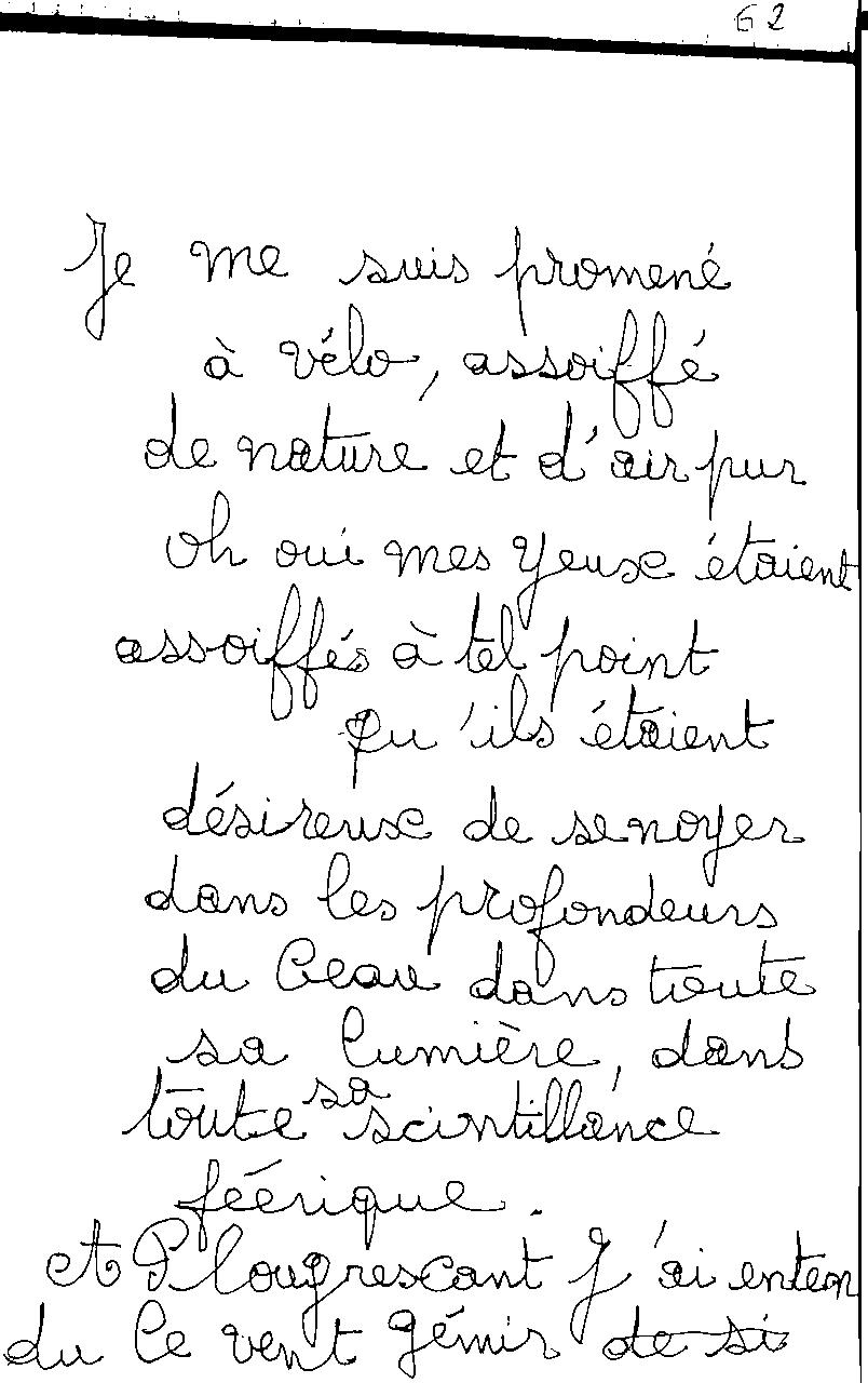 manuscrit du poème 2472