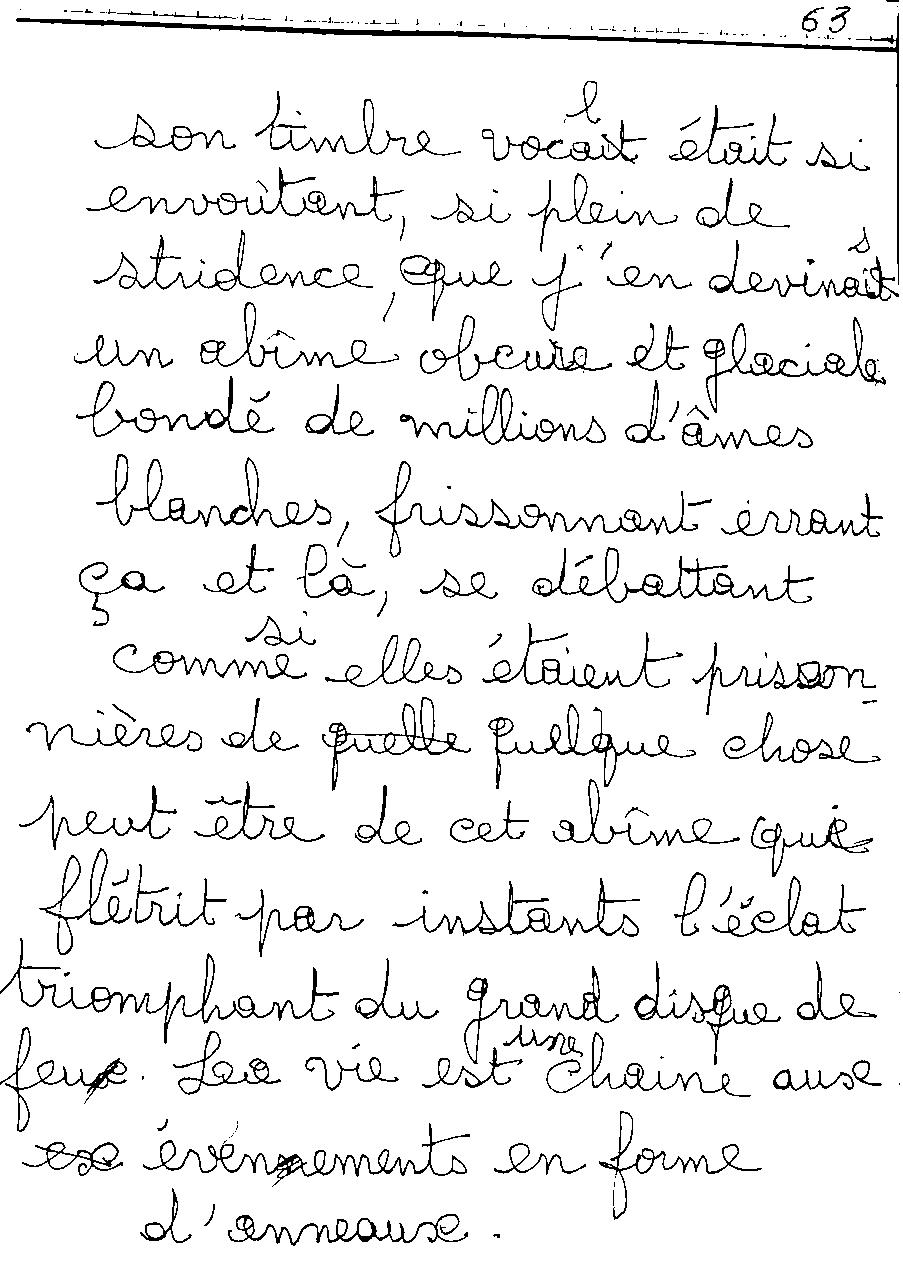 manuscrit du poème 2473