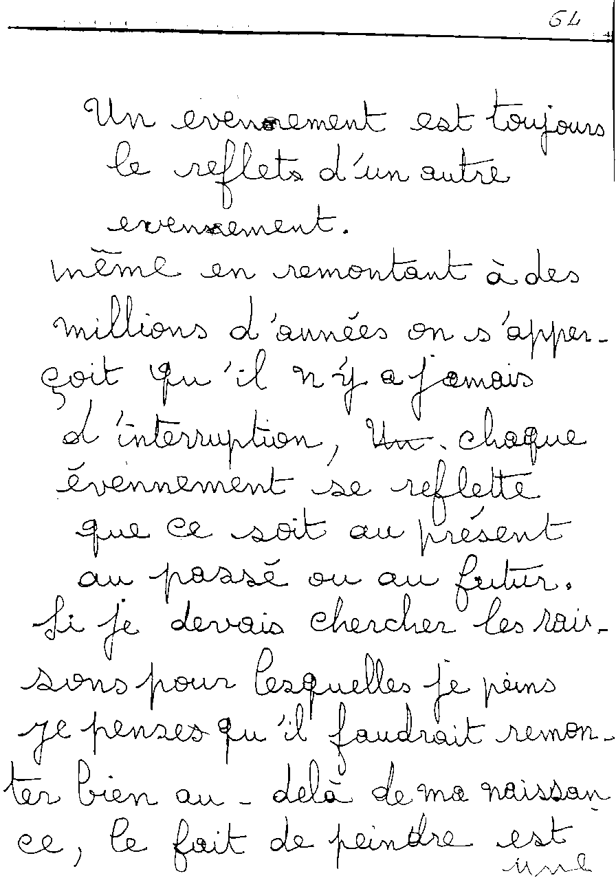 manuscrit du poème 2474