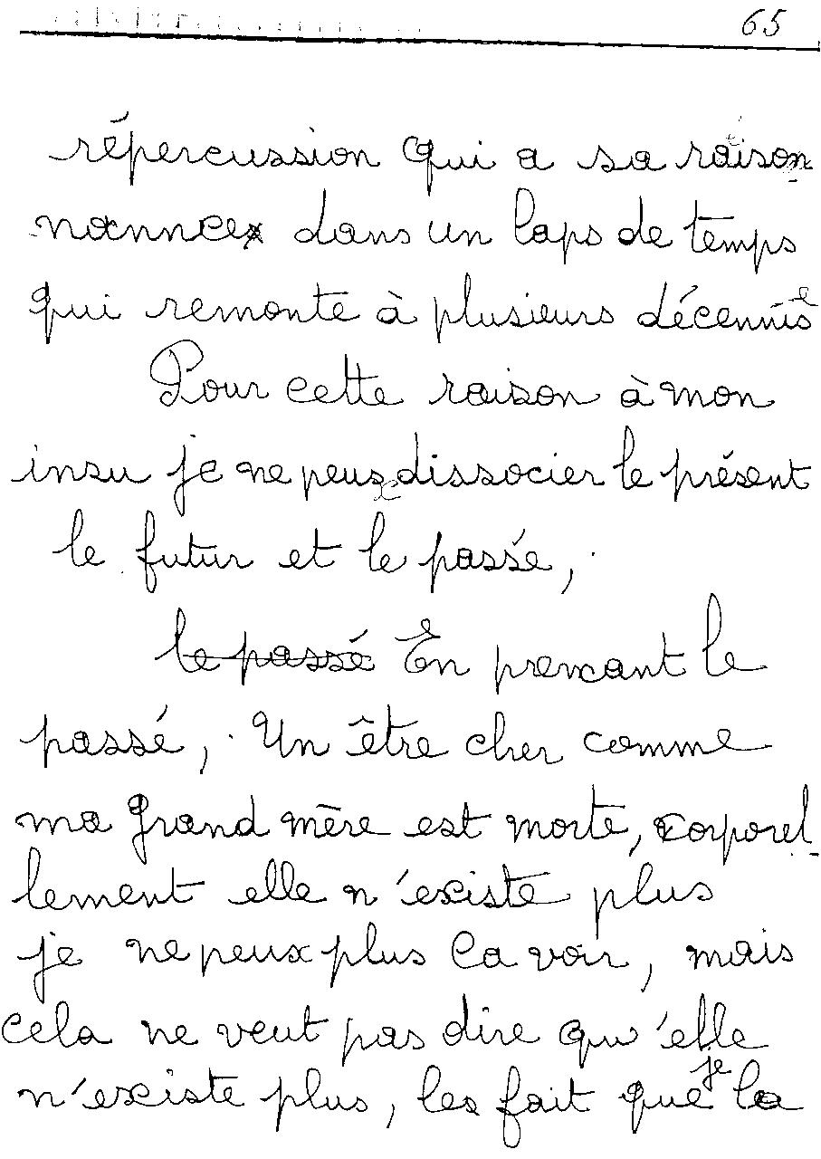 manuscrit du poème 2475