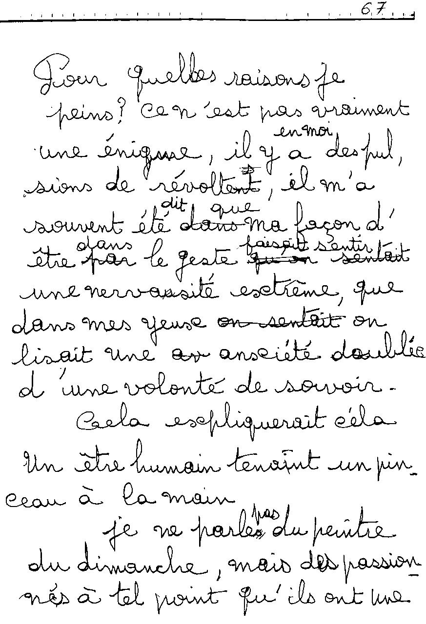 manuscrit du poème 2477