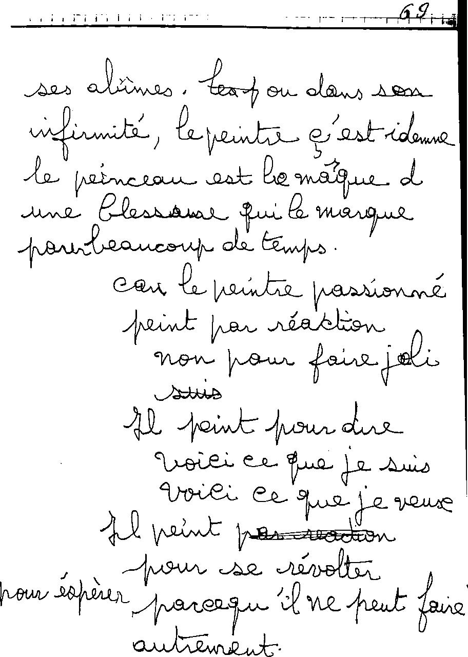 manuscrit du poème 2479
